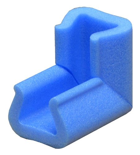 None 45mm x 100mm Blue Foam Corner Point Edge Protectors Cushions Baby Child Safety Qty 20
