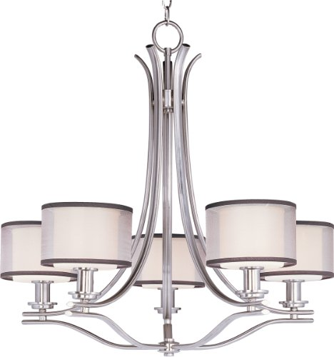 maxim-lighting-23035swsn-orion-5-light-chandelier-satin-nickel-finish-with-satin-white-glass-and-she