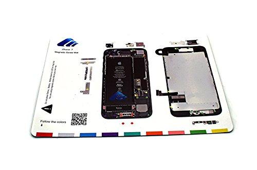 X-Sea Design Magnetic Project Mat Repair Guide Pad Screw Keeper Chart Map Professional Guide Pad Repair Tools ,black (for iphone 7)