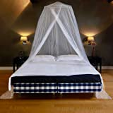 EVEN Naturals Luxury Mosquito Net for Bed, Largest: for Single to King Size, Finest Holes: Mesh 380, Bed Canopy Curtain Netting, 2 Entries, Quick Easy Installation, Storage Bag, No Chemicals Added
