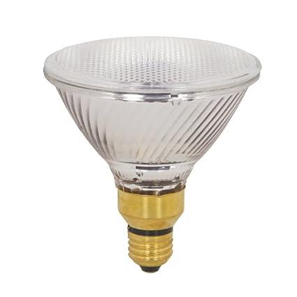 Satco Products S2248 60-Watt Dimmable 75-Watt 1090 Lumens PAR38 Halogen Flood 30-Degrees Clear Light Bulb