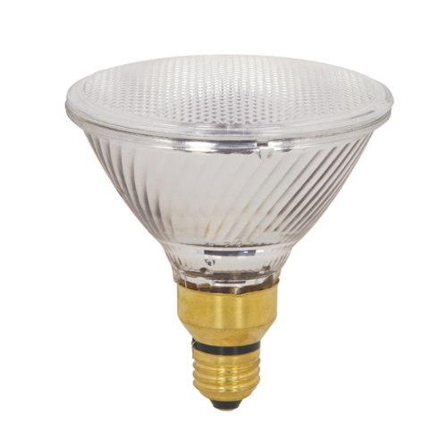 Satco S2258 80 Watt (120 Watt) 1600 Lumens PAR38 Halogen Narrow Spot 9 Degrees Clear Light Bulb, Dimmable