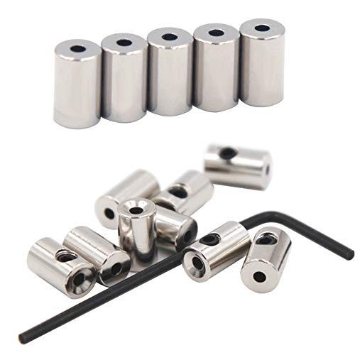 EuTengHao 60 Pieces Pin Keepers Pin Locks Pin Backs Locking Clasp Locking Pin Keeper Backs Locking Pin Backs (9mmx5.5mm,Silver)