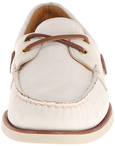 Sperry 0195 - Náuticos de cuero para hombre, color marrón, talla 44,5 marfil (Ivory Leather)