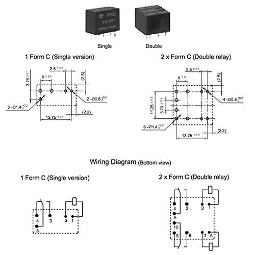 RT Relais automobile Hongfa HFKD//012-2ZST 12 V//DC 20 A 2 inverseurs s 1 pc