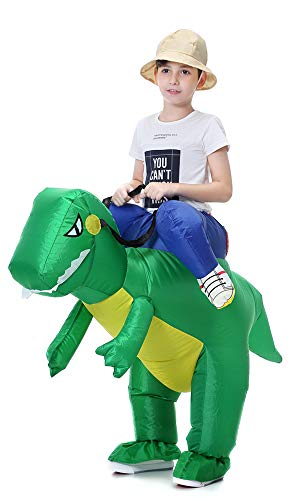 Hsctek Inflatable Costume for Child Adults, Halloween Costume Ideal for Party (Dinosaur-Kid Size) -