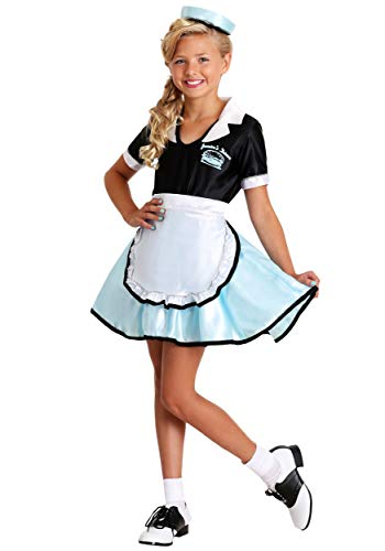 Big Girls' Car Hop Girl Costume X-Large -
