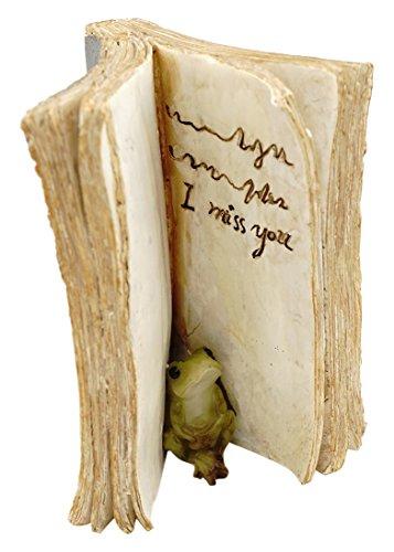 Top Collection Miniature Fairy Garden and Terrarium Frog Hiding in Book Figurine