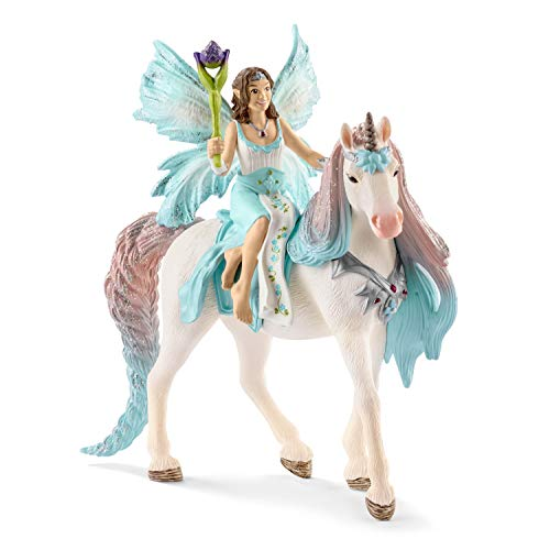 Schleich Fairy Eyela with Princess Unicorn Toy, Multicolor