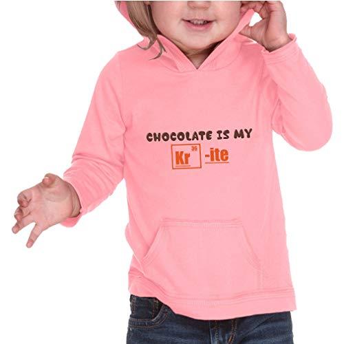 Ite Pullover Hoodie - Chocolate is My Kr - ITE Long Sleeve Hooded Infant Boys-Girls Cotton/Polyester RawEdge Hoodie Sweatshirt - Flamingo, 12 Months