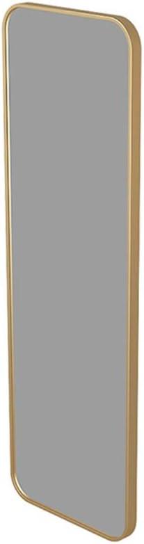 Espejos de parede Cuerpo Completo de diseño Moderno de Hierro Forjado Grande, Espejo Rectangular Simple montado en la Pared, Dorado