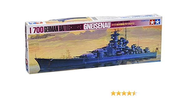 Amazon.Com: Tamiya Models Gneisenau Battleship: Toys & Games
