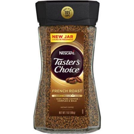 Nescafe Taster's Choice French Roast Instant Coffee, 7 oz (Pack of 6)