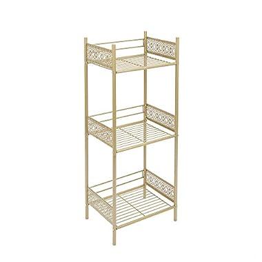 Silverwood Filigree Bathroom Collection Floor Shelf, 36  H, Gold