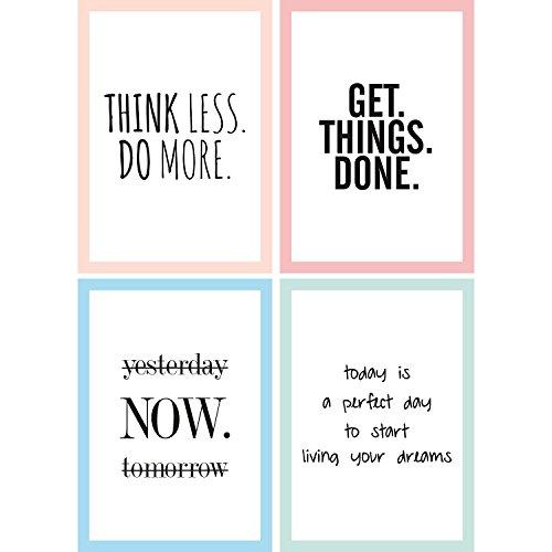 Cupcakes & Kisses Set of 4 Motivation Posters I Inspirationa