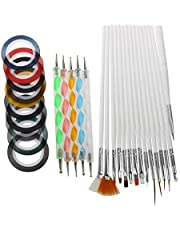 Haobase Set Of 50Pcs Nail Art Design Dotting Painting Drawing Polish Brush Pen Striping Tape