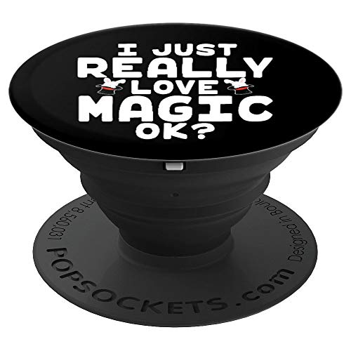 I Just Really Love Magic - Cute Magician's Hat with Rabbit - PopSockets Grip and Stand for Phones and - Rabbit Magicians