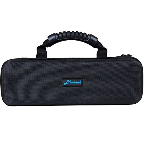 BlueTECH B3-ECHOCASEBLK Hard Travel Case for Amazon Echo, with Durable Carrying Handle - Weather Resistant and Shockproof, Fits Speaker and Charger Adapter, Black