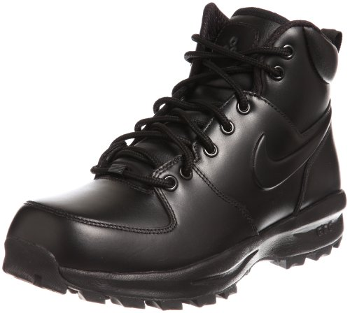 Nike Men's Manoa Leather Black/Black/Black Boot 9.5 Men US (Man Boots For Sale)