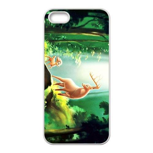 Bambi 011 coque iPhone 5 5s cellulaire cas coque de téléphone cas blanche couverture de téléphone portable EOKXLLNCD26025
