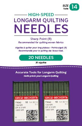 (Handi Quilter Longarm Quilting Needles - High-Speed Sharp Point (R) Size 14 (Pack of 20))