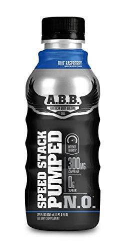 ABB Speed Stack Pumped N.O Nutrition Beverages, Blue Raspberry, 12 Count ()