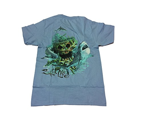 Salt Life Tiger Wreck Sky Blue T-Shirt (Large)