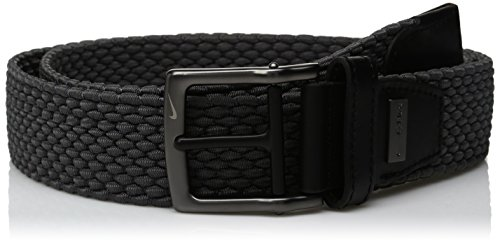 Nike Men's Nike Men's Stretch Woven Belt, dark grey, 40