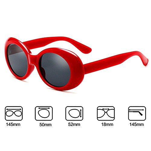 Rouge Lunettes épaisses femmes rétro lunettes UV400 ovale soleil de hommes Worclub vxdOw6qYv