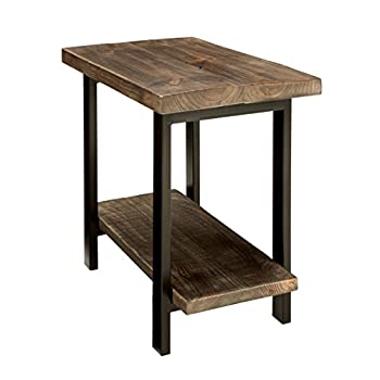 Image of Home and Kitchen Alaterre AZMBA0120 Sonoma Rustic Natural End Table, Brown