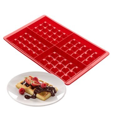 4-Cavity Mini Waffles Cake Chocolate Pan Silicone DIY Tray Cake Mold Cookie Mould Baking Tool - Bakeware & Accessories Baking Pans & Dishes - 1x 4-Cavity Waffles Mold