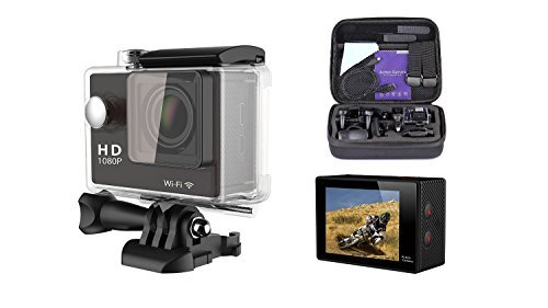 WiFi ExtrH 264 Full HD Action Camera2 LCD WIFI 1080P 2pcs Batteries with a Chargereme Sport Camcorder High Frame with 1080P 60fpsの商品画像