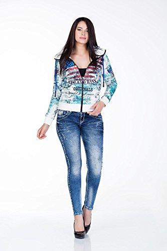 Cipo&Baxx Damen Jeans WD242, Gr. W30/L32
