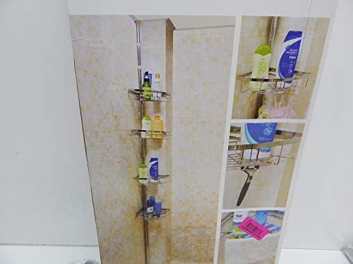 lifewit cortina de ducha, con 4 niveles ajustable baño ducha caddy constante tensión estantería esquinera de poste para champú, acondicionado, jabón: Amazon.es: Hogar