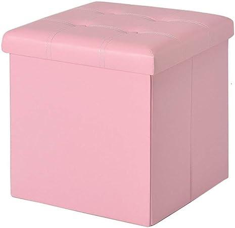 YSDHE Almacenamiento Plegable heces Caja Puf Puf Cube MDF Puf Asiento Cuadrado con Puff Cubrir y