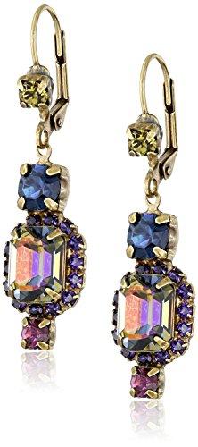 "Sorrelli ""Aurora Sky"" Classic Swarovski Crystal Drop Earrings"