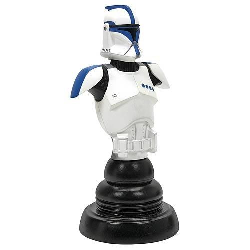 (Gentle Giant Star Wars Episode II Blue Clone Trooper Lieutenant Classics Bust)