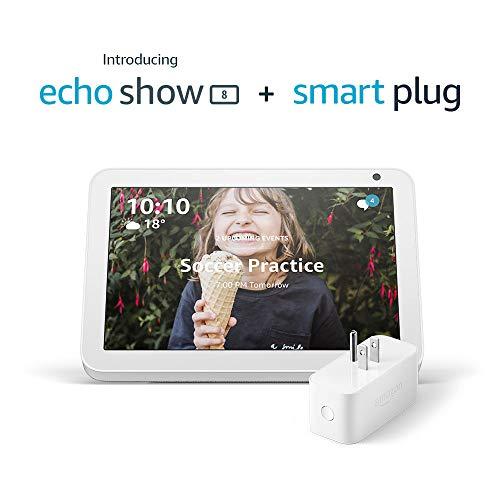 Echo Show 8 (Sandstone) with Amazon Smart Plug