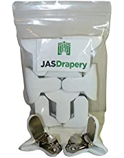 JAS Drapery Padded Comforter Clips, Prevents Comforters From Shifting Inside Duvet Cover by JAS Drapery