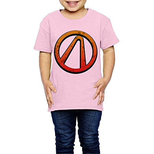 Geneva F The Vault Borderlands Children's T Shirts for Girls & Boys Pink 2 Toddler ()