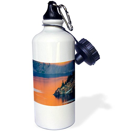 3dRose wb_259873_1 Sunset Colors the Waters At Crater Lake National Park, Oregon, USA Bottle by 3dRose