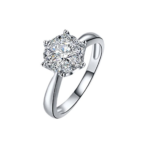 GOWE 18K Gold Diamond Ring Women Girl Lover Couple Gift Natural Large Diamond Classic Six Claw 1CT 2CT Carat Genuine Wedding Propose by GOWE