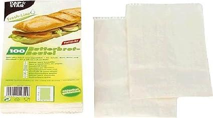 Papstar Sandwich Bags - Paquete de 100 bolsas para comida ...