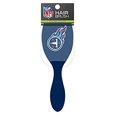 Worthy Promotional NFL Tennessee Titans Salon Style Hair Brush with Ball Tipped Bristles and Bonus Hair tie