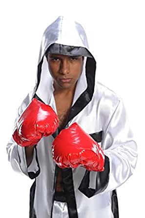 Image Unavailable  sc 1 st  Amazon.com & Amazon.com: Charades Adult Costume Boxer Gloves Red: Clothing