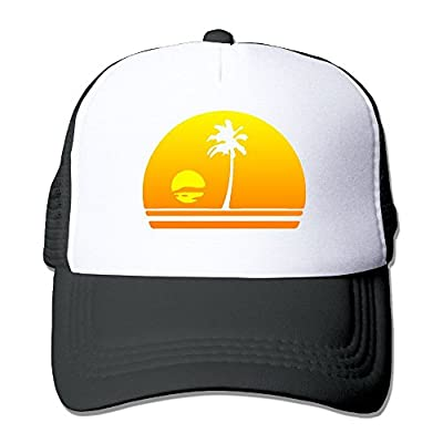 HAT-HAT Palm Tree Sunset Men's Women's Adjustable Snapback Hats Dad Hats | Baseball Caps Mesh Back