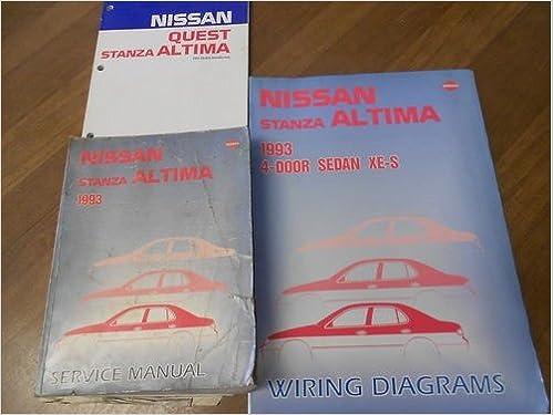 1993 nissan stanza altima service repair shop manual three volume
