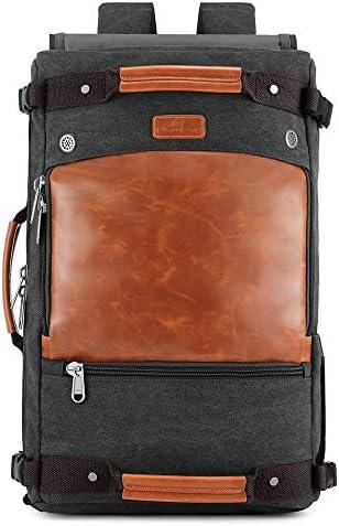 紳士ハンドバッグ メンズミニマ週末旅行バッグバックパックトートバッグショルダーバッグバッグ上で一晩バッグキャンバス荷物ジムスポーツショルダーバッグ特大キャリー 便利で多用途 (色 : 緑, Size : 33x19x53cm)