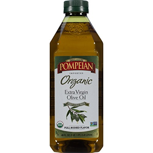 - Pompeian Organic Extra Virgin Olive Oil, 48 Ounce