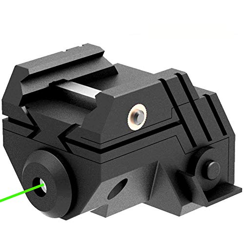 (Laser Sight Rechargeable Mini Sub Compact Tactical Rail Mount Low Profile Green Dot Laser Sight with Build-in Rechargeable Battery for Pistol Rifle Handgun Gun(1 Pack, Black))
